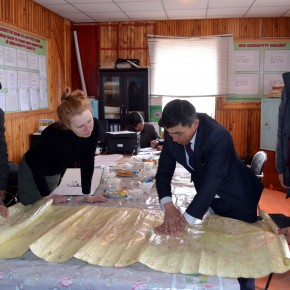 Discussing possible green sites in Ak-Muz village administration